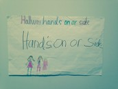 """Hallway hand on 'or' side"""