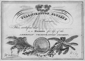 Life Membership Certificate for American Colonization Society