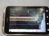 Su LCD roto, antes de arreglarlo