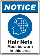 TYING HAIR OUT OF THE FACE OR COVERING WITH A HAIR NET