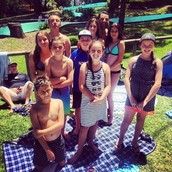 With my family and friends at Jamberoo.
