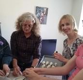Making pelmeni dumplings
