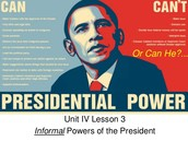 3. List the 10 constitutional powers of the president