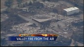 Aerial view of part of the destruction.