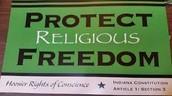 what Indiana senate bill 101( religious freedom act ) states