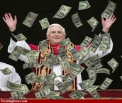 Pope Showers in the People's Money