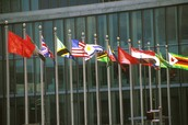 World Flags In Front of the General Assembly