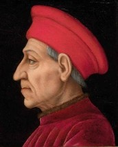 The guy who actually started it - Cosimo de' Medici (A.K.A. Pater Patrie)