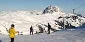 People skiing in the dinaric alps