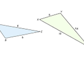 Similar Triangles By SSS