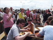 And of course the PIZZA EATING CONTEST!!!