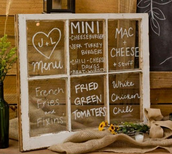 Wedding Menu Display
