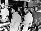 Protesters Sitting at a Lunch Counter