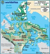 map of nunavut