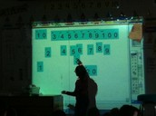 Doubles on the Mimio in 1st grade