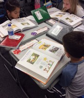 Students engaged with reading