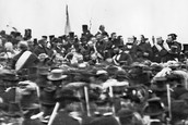 The only picture of Lincoln at Gettysburg.