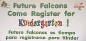 Future Falcons Come Register for Kinder