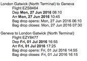 Geneva flight delights