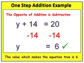 Solving One Step Equation