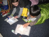 Reading or Math by Flashlight