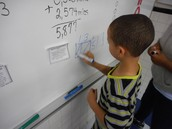 All students in Teri Childress 4th grade room were seen working on the learning target--