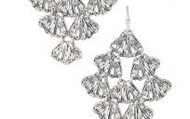 Geneve lace chandelier earrings - silver