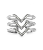 PAVÉ CHEVRON RING - (Comes in GOLD or SILVER) - $29