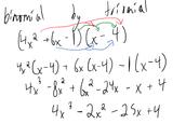 Trinomial by binomial