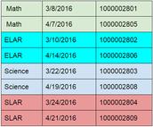 K-2 Content Night Schedule