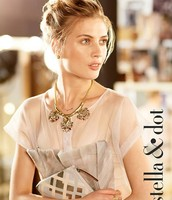 Helena Necklace and Capri Pouch in Metallic Geo Print