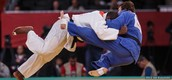 This shows Dartanyon Crokett during one of his Judo matches