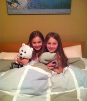 Our first sleepover