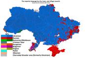 Ukrainian language distribution