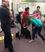 AVID Students Meet Officer Case and Leader