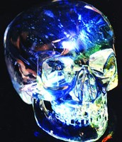When light is shined at the skull