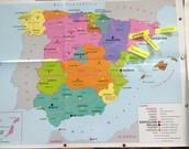 Registre de parades en un mapa d'Espanya de comunitats autònomes