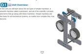 D - Simple Machines and Motion