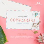 In addition to the gorgeous Le Tropique pieces, Copacana launches Tuesday at 10 pm!