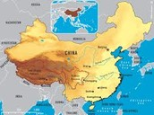 What is the land size of china?