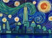 Starry Night Freedom Tower