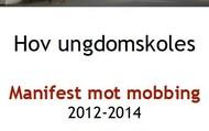 Signering av Manifest mot mobbing