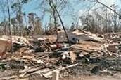 Louisiana house after Katrina