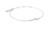 Interlock Cross Bracelet