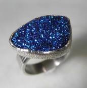 טבעת קובלט כחול