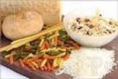 El pan, arroz y pasta