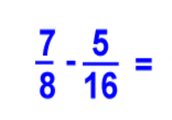 Example Of Subtracting Proper Fractions