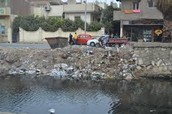 Dumping garbage into the Nile River