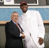 LeBron James and Former Commisssioner David Stern