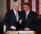 Joe Biden and John Boehner